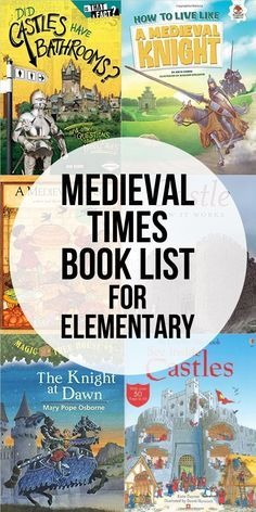 A great list of books for studying the medieval times with elementary.