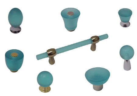 The cal crystal athens turquoise collection coastal for Turquoise cabinet pulls