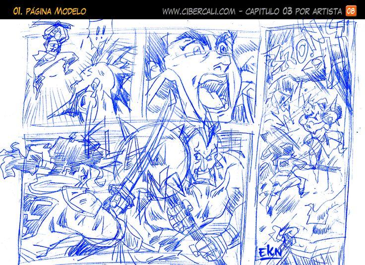 EL DISCÍPULO Story Board de Yugga vs Katsumo (Peleando) por EKN   EKN: Mis Dibujos de Anime Manga