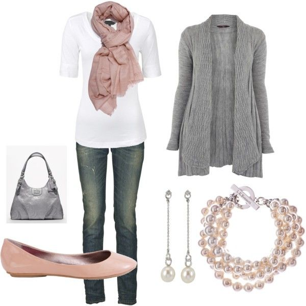 .: Pink Pearls, Casual Outfit, Fashion, Color Combos, Soft Pink, Pale Pink, Scarves, Cute Outfit, Flats