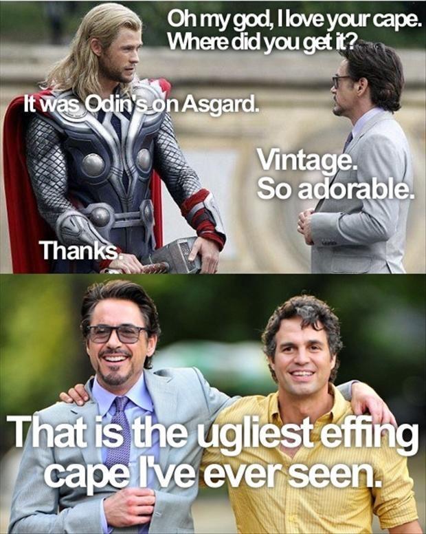 Thor's cape.