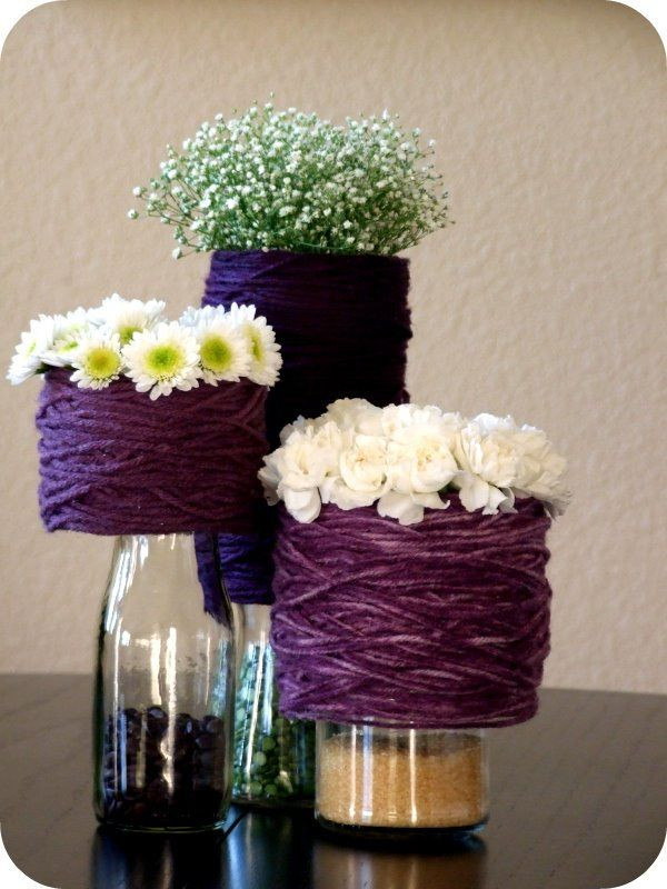 154 best wedding tables images on pinterest weddings wedding purple diy centerpieces wedding reception centerpiecesdiy wedding centerpiecesflower solutioingenieria Image collections