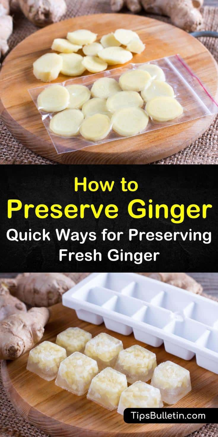 how to freeze ginger root for tea