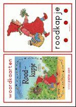 13 Woordkaarten Roodkapje - Groot met lidwoorden en klankgroepen - illustraties Dagmar Stam