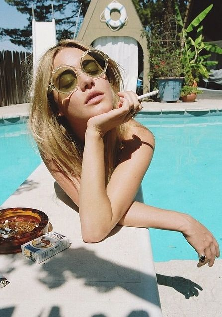 Camille Rowe x Jason Lee Parry wearing Stoned Immaculate Vintage