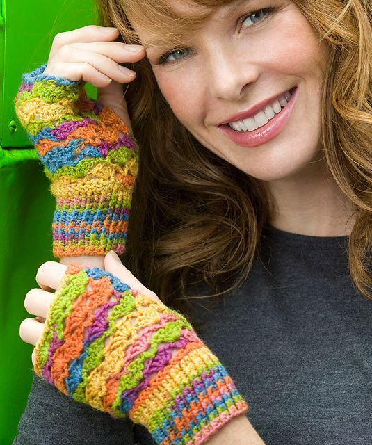 images about CrotchetWrist Warmers  Gloves