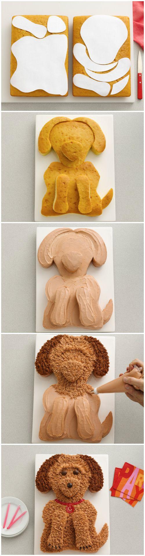 Golden Doodle Dog Cake