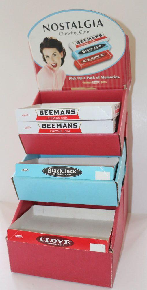 Beemans Black Jack Clove gum store display sign countertop vintage Adams gums #Beemans