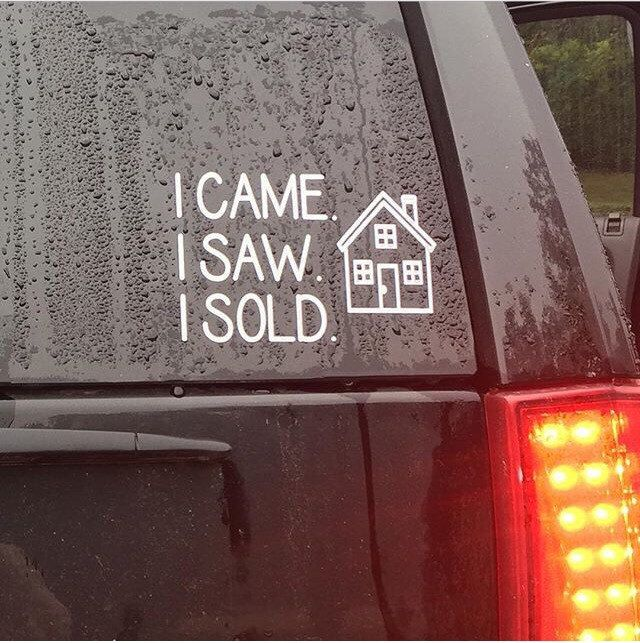 A personal favorite from my Etsy shop https://www.etsy.com/listing/254799991/realtor-car-decal-realtor-gift-gift-for