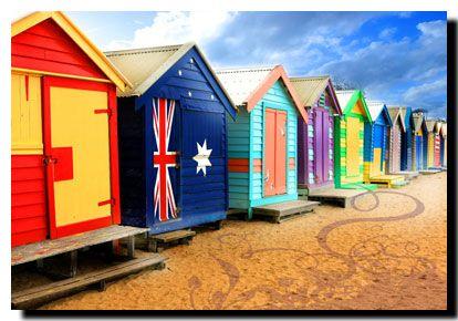 beach boxes Brighton Beach Melbourne Victoria Australia