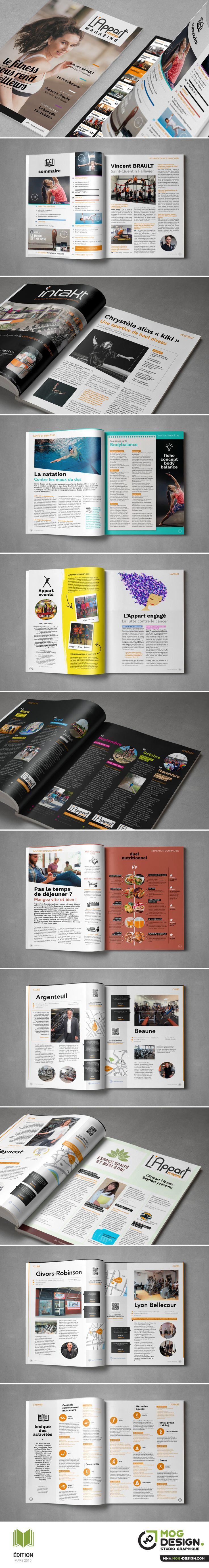 Vous avez enregistré sur BOOK - Édition / Magazine L'Appart Fitness. Charte graphique Mars 2016. Maquette + Mise en page : MOG DESIGN