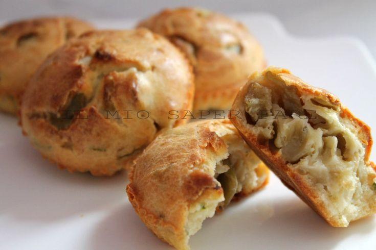 Muffin salati con melanzane un antipasto o un geniale stuzzichino finger food. Versatili perchè ci si può aggiungere qualsiasi ingrediente