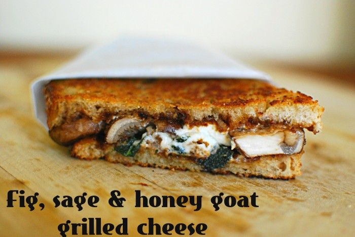 Grilled Goat Cheese Sandwiches With Fig And Honey Recipe — Dishmaps
