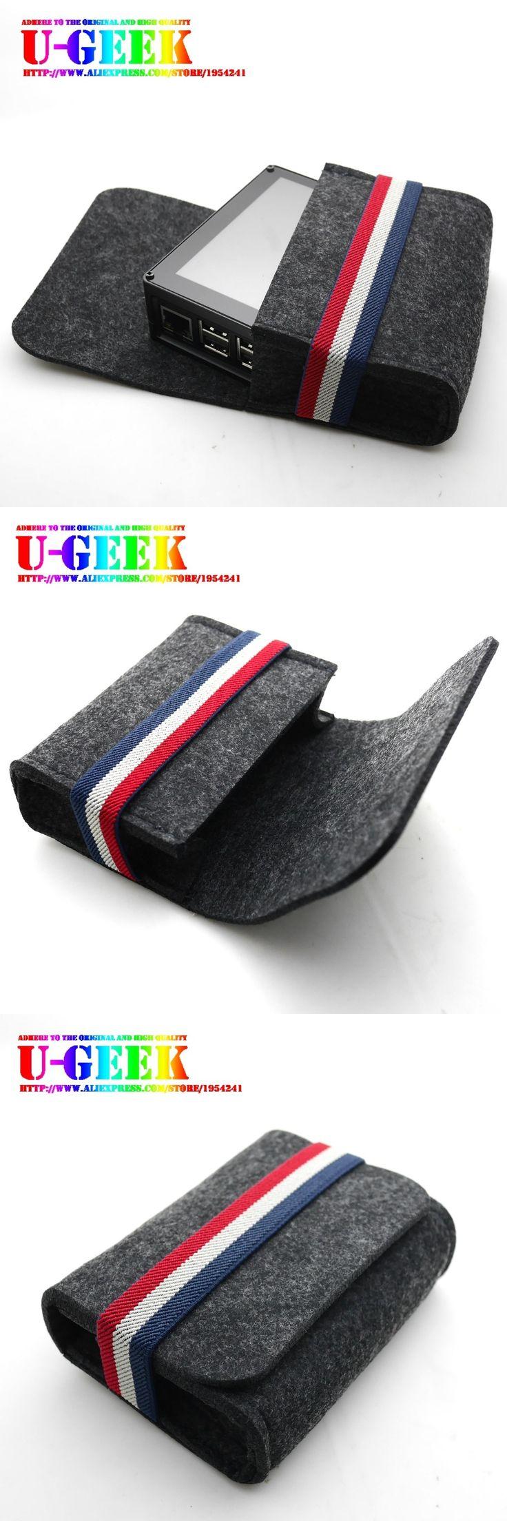 UGEEK AOIDE Wool felt-like bag for 3.5 inch screen CNC / Acrylic case kit  Raspberry Pi case 