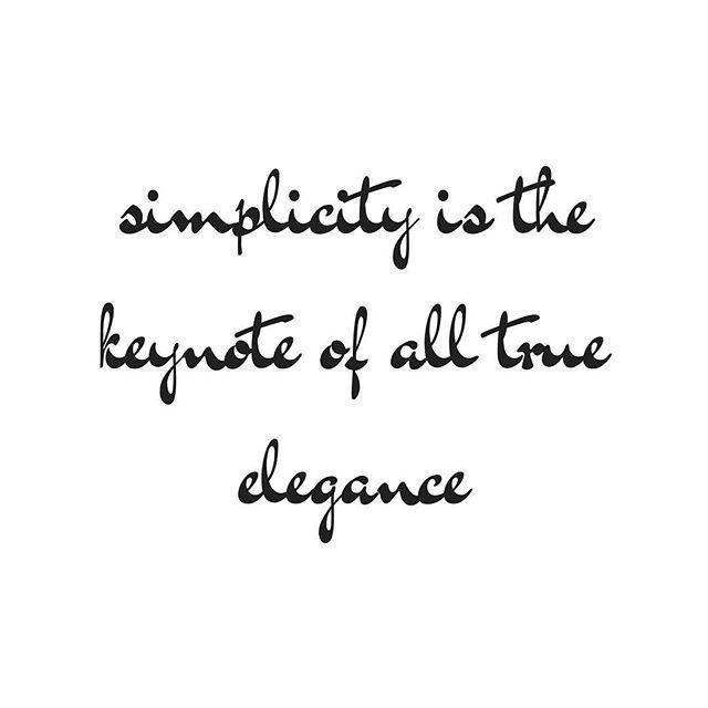 """""""Simplicity is the keynote of all true elegance"""" - Coco Chanel #MagiskaCo #inspiration #inspirational #motivationalquotes #motivation #beyourself #quotes #quotestags #lifestyle #love #happy #smile #style #freedom #happiness #life #simplicity"""