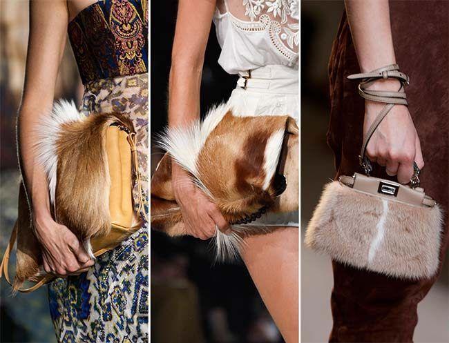 Kožešinové kabelky jako jeden z trendů pro jaro/léto 2015.