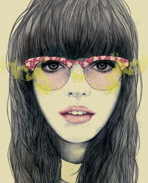 bubble gum glasses: Mercedes Debellard, Merc Debellard, 3D Character, Fashion Illustration, Illustration Art, Portraits, Drawing, Colors Glasses, Art Illustration