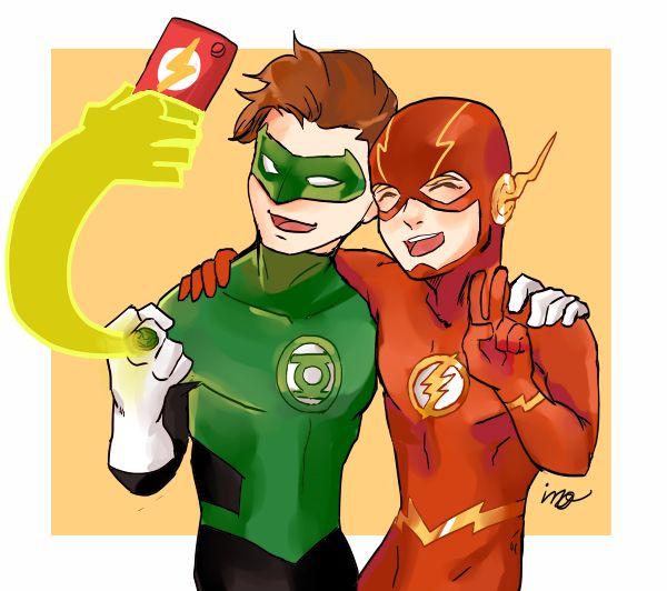 Best bros. :D Green Lantern & The Flash. Hal Jordan & Barry Allen