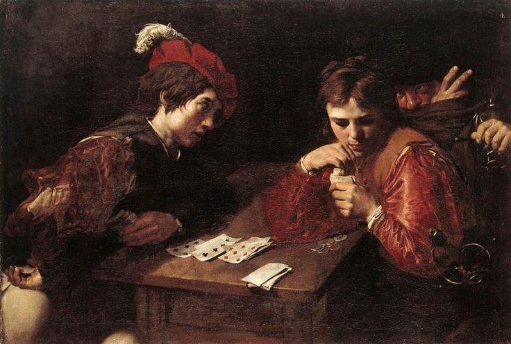 Valentin de Boulogne,   (1591-1632), 'Cardsharpers', ca. 1615-1617, Oil on canvas, 94.5 x 137 cm, Gemäldegalerie Alte Meister - Staatliche Kunstsammlungen Dresden  (Germany)