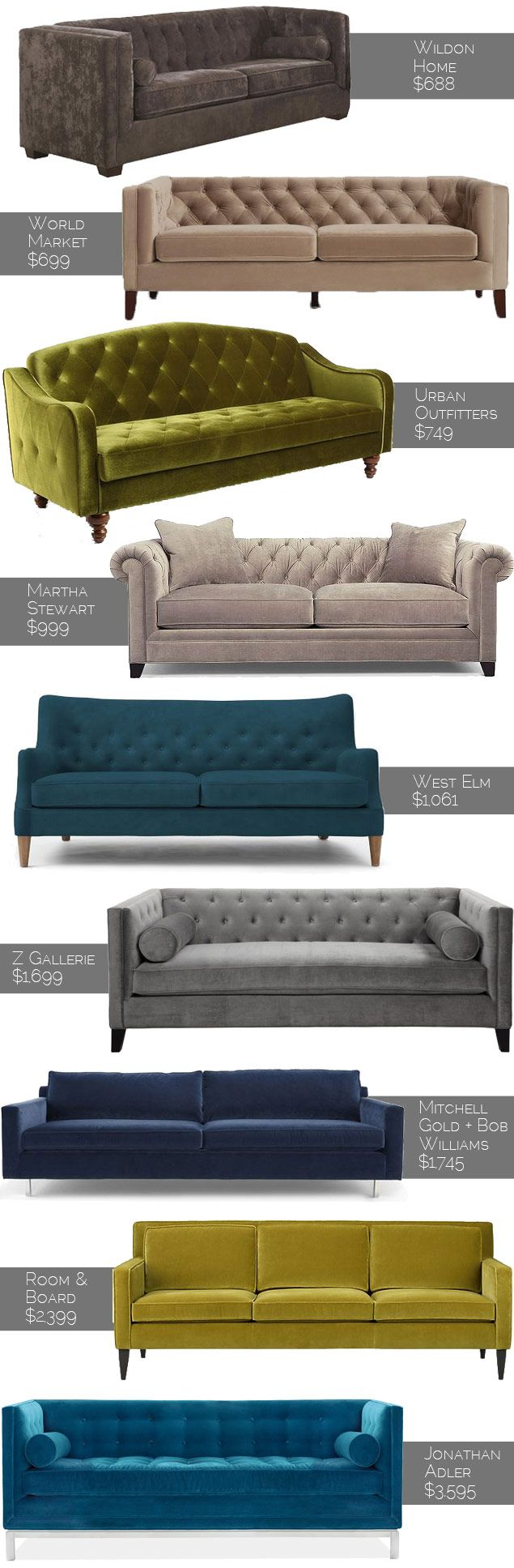 Get the Look: 10 Velvet Sofas for Any Budget (Photos) | Home Design & Shopping | Washingtonian