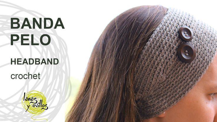 http://www.lanasyovillos.com Tutorial de cómo hacer una banda para el pelo a crochet de una forma fácil y rápida. Encuentra este patrón y muchos más en http:...
