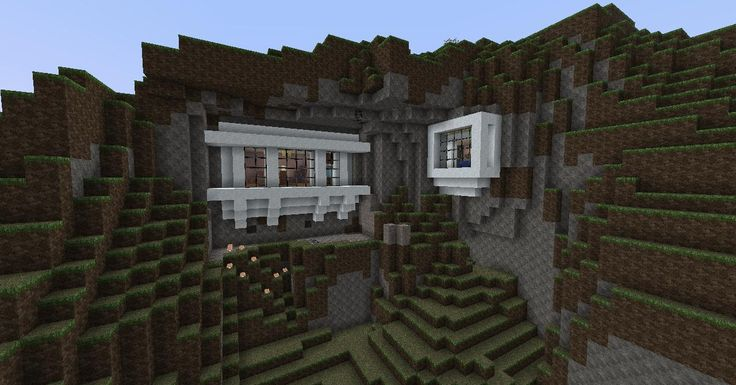 Cliff Side House Minecraft Google Search Minecraft Pinterest