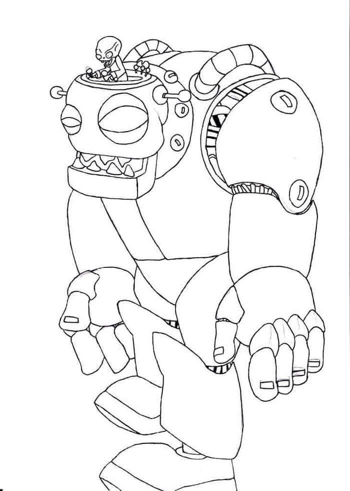 Plants Vs Zombies 2 Coloring Page Big Zombot In 2020 Plants Vs Zombies Birthday Party Halloween Coloring Pages Animal Coloring Pages