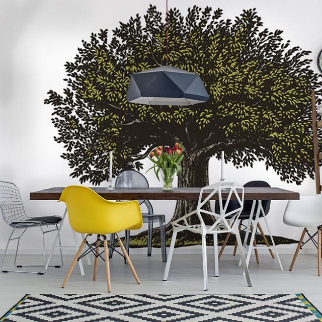 Is your dining room smart enough? If not use my mural Wisdom Tree..  #stawsky #design #murals #wallswork #tapetomat #wallpaper #wallpapers #designer #artist #tapeten #tapety #fashion #decorate #diy #wall #walls #vintage #retro #loft #vinyl #comingsoon #tree #art #nature #forest #home #house #interior #interiordesign