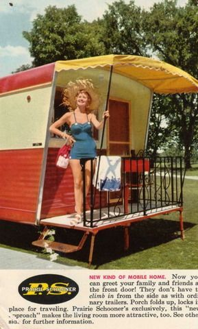 1950s Prairie Schooner Advertisement Vintage Travel