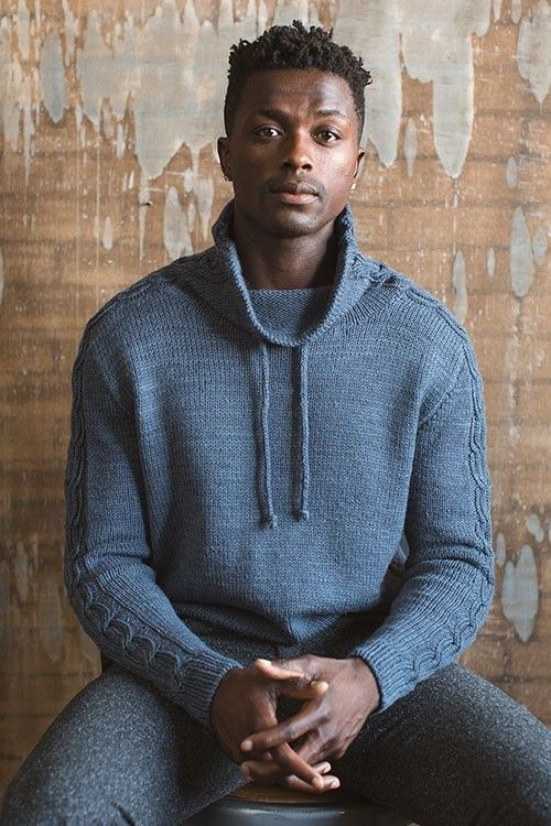 Enjoy a modern take on men's athletic wear with this knitted pullover pattern!