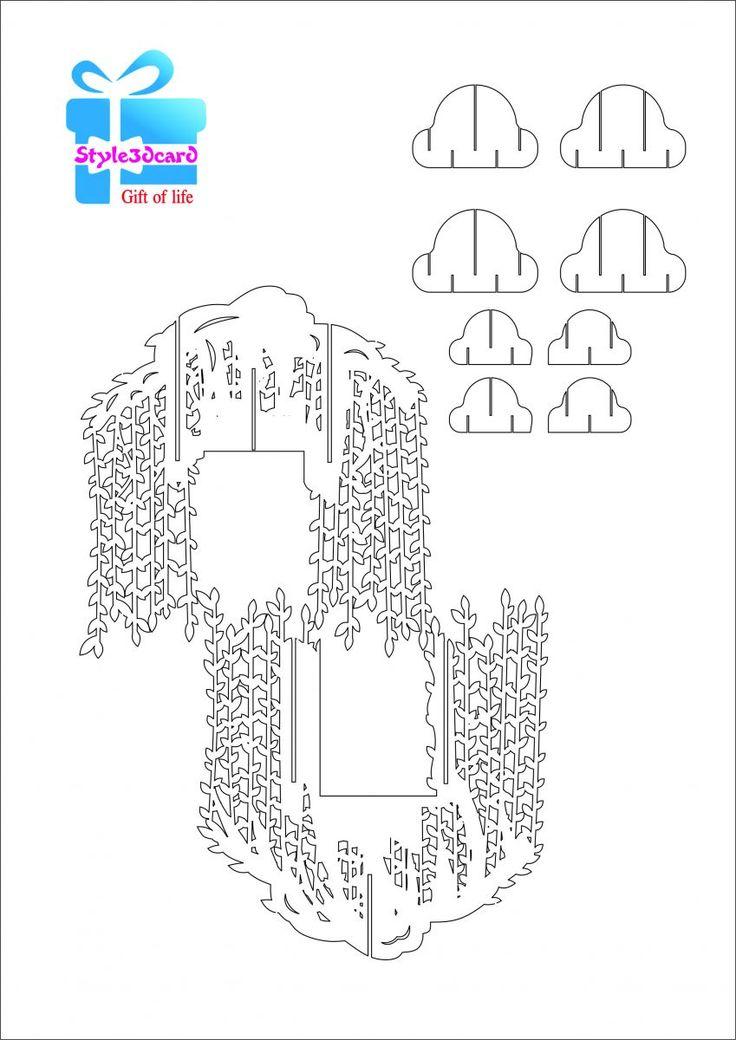 Willow Tree pop up card/kirigami pattern 2