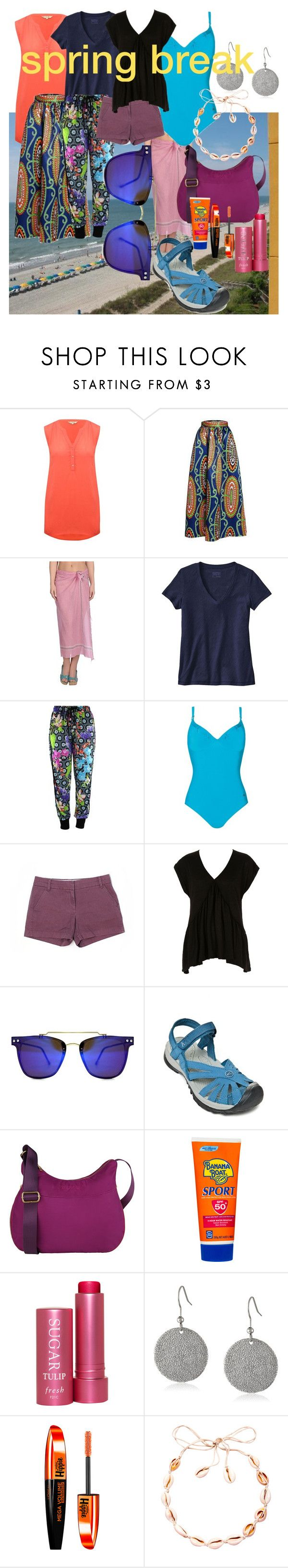 """""""Untitled #844"""" by moestesoh ❤ liked on Polyvore featuring M&Co, Antik Batik, Patagonia, Naturana, J.Crew, River Island, Spitfire, Keen Footwear, Suvelle and Banana Boat"""