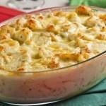 Receita de Bacalhau com queijo e batata