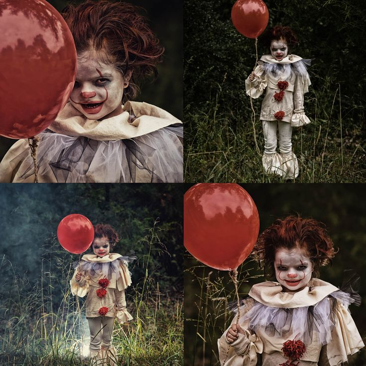 Leggings and long top with added ruffled collar, shoulder, wrist and leg cuffs.  It 2017 costume, halloween costume, homemade halloween costume, kids costume, clown, clown costume, it clown, pennywise, pennywise costume, pennywise the clown, clown makeup, it makeup