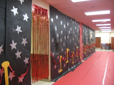 hall decorations - hollywood syle - cheap & glam
