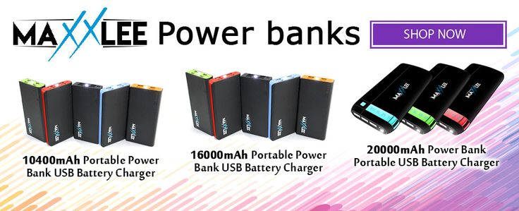 Maxxlee Portable Power Bank USB Battery Charger