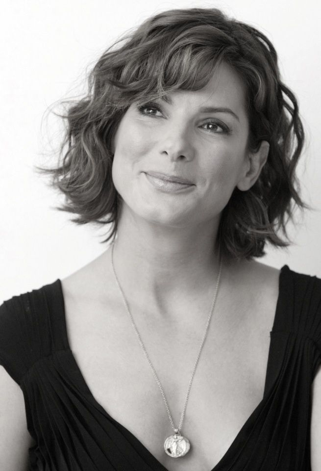 Curly Hairstyles for Square Faces - really like this hair style Sandra bullock