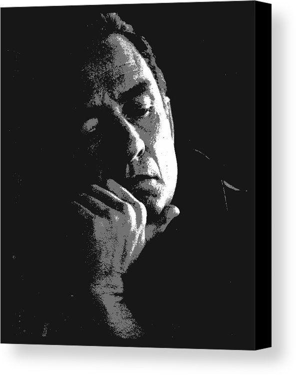 Johnny Cash Canvas Print Featuring The Painting Johnny Cash By Otis Porritt Acrylic Prints Canvas Prints Independent Artist