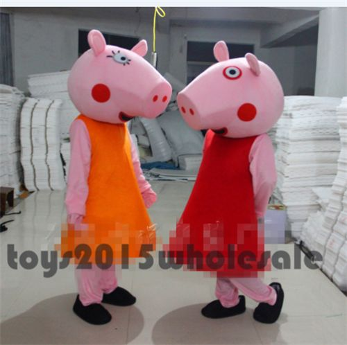 Christmas Peppa Pig Mascot Costumes Family Birthday Party Cosplay Parade Outfits