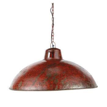 Nevada red industrial pendant lamp