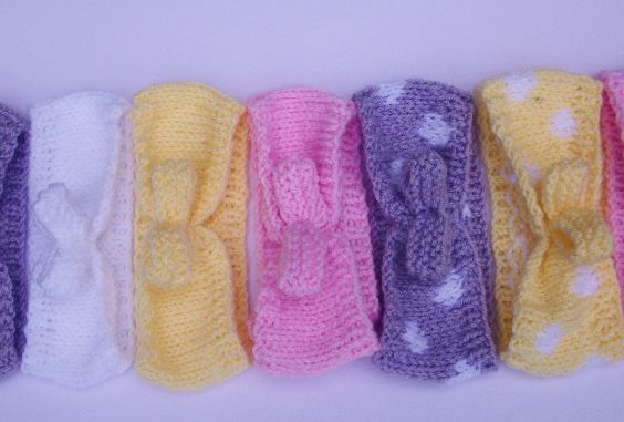 Hand Knitted Baby Rockabilly Hairband