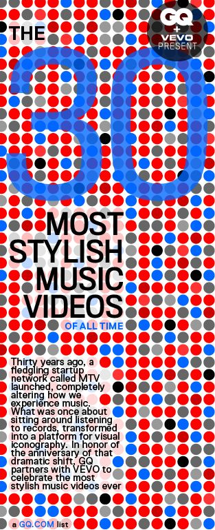30 Most Stylish Music Videos of All Time per GQ