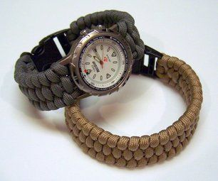 Woven paracord bracelet/watchband for a Christmas/birthday gift