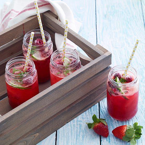 Hindbær-Jamtini med citron - Opskrifter
