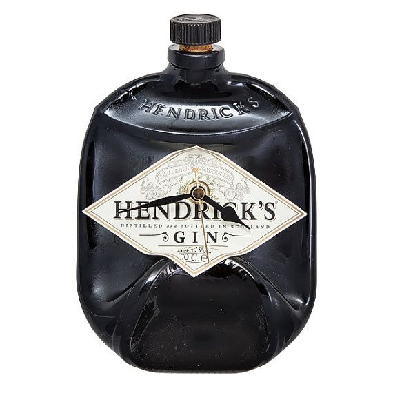 Hendrick's Gin bottle clock by Aramica on Etsy