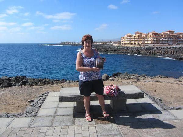 "My mum, Sue, in the Canary Islands, proudly showing off her copy of my novel, ""I Have Lived Today.""   Thanks mum, my biggest fan x"