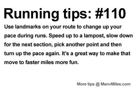 Running Tips: Turn the streets into a game. Starting running or training for a marathon? Tips and help: Get more running tips and training advice