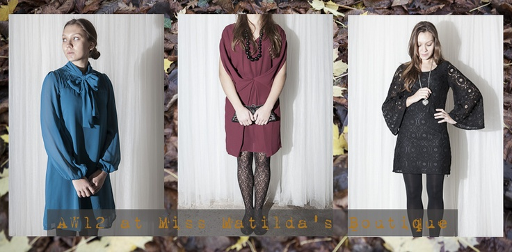 A collection of pretty dresses for AW12 in our pretty online boutique. Miss Matilda's is an online ladies fashion retailer in the UK.