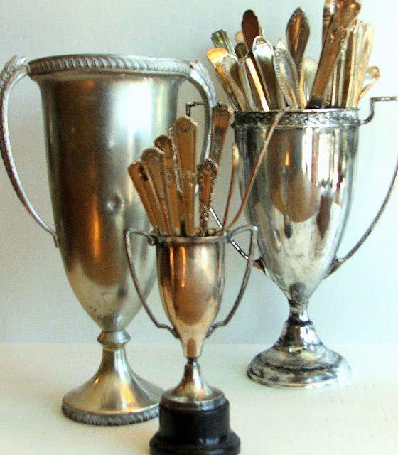 No Minimalist Here: Cheap Trophies DIY
