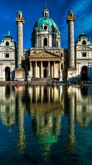 St. Charles' Church, Vienna, Austria. Spent a wonderful lunch hour here Oct 1998
